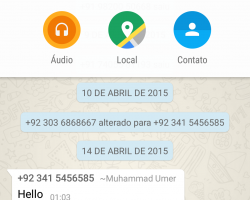 whatsapp muda layout de seu app