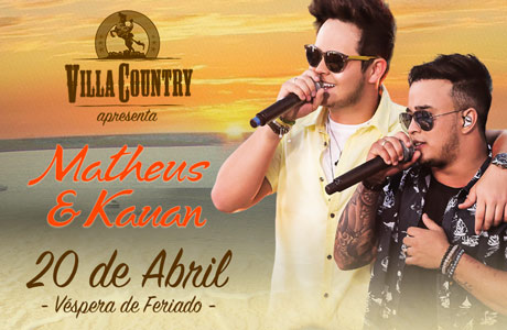 Villa Country terá noite romântica com Matheus & Kauan