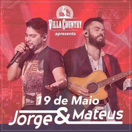 Villa Country terá grande noite com Jorge & Mateus dia 19 de maio